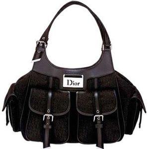 CHRISTIAN DIOR 'Diorissimo' Black Logo Tote. EUC.